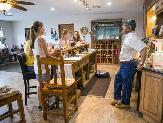 Golden Rule Vineyards wine tasting room in Cochise,
