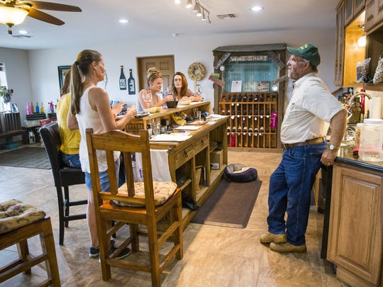 Golden Rule Vineyards wine tasting room in Cochise,