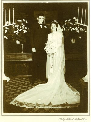 Mark and Jean Matney of Salem on their wedding day Jan. 8, 1946.