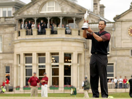 Tiger Woods won the 2000 Open Championship at St. Andrews. (via Golfweek)