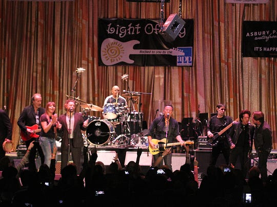 Bruce Springsteen leads the band at the 2015 Light of Day in Asbury Park.