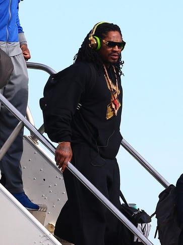 Jan 25, 2015; Phoenix, AZ, USA; Seattle Seahawks running