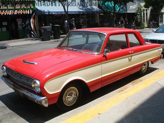 File: 1963 Ford Falcon, 2 door sedan.