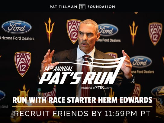 Herm Edwards will be the race starter at the 2018 Pat's