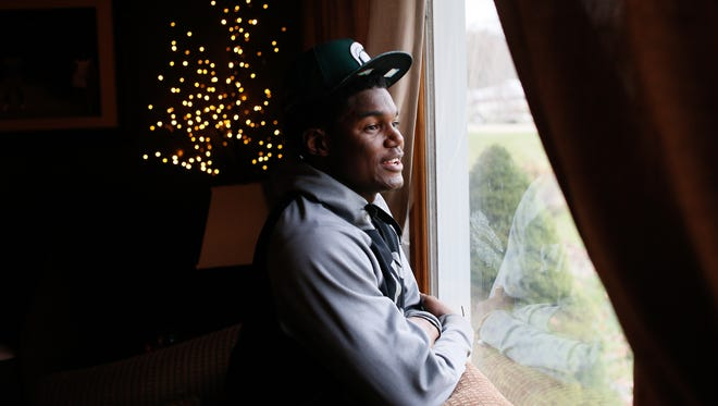 Brandon Randle, 18, is from Raleigh, North Carolina, but goes to school at Battle Creek Central High School and lives with his football coach, Lorin Granger, and his family. Randle was going to return to Raleigh after his grandfather, who he was living with in Battle Creek, was in a car accident his junior year.