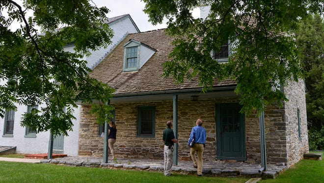 York County is looking to see if the Strickler farmhouse, partially built in 1742 and now part of the York County  Prison property, can be economically rehabbed. Friday, June 24, 2016. John A. Pavoncello photo