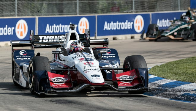 Graham Rahal swept last year's IndyCar races at Belle Isle.