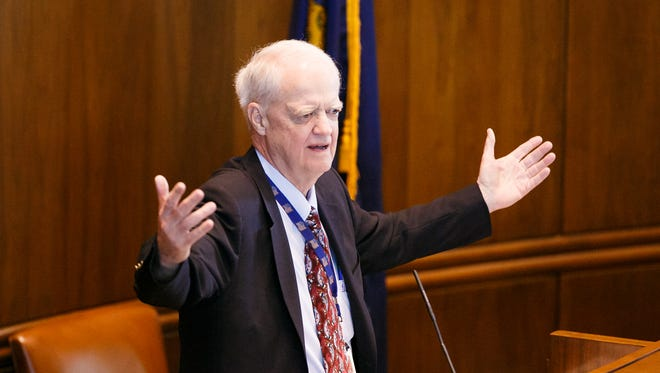 Senate President Peter Courtney as lawmakers work to close out the short legislative session on Saturday, March 3, 2018.