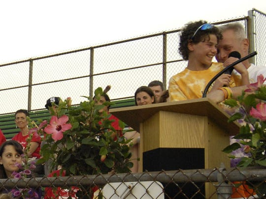 From 2010: Cancer survivor Allyn Lilien gave an emotional speech with her father Steve by her side at a Relay for Life event in Hillsdale.