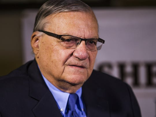 Former Maricopa County Sheriff Joe Arpaio poses in