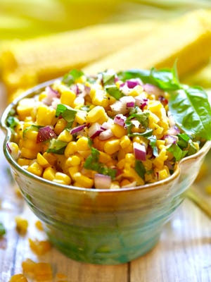 Enjoy the first fresh corn of season with a quick and easy corn salad.