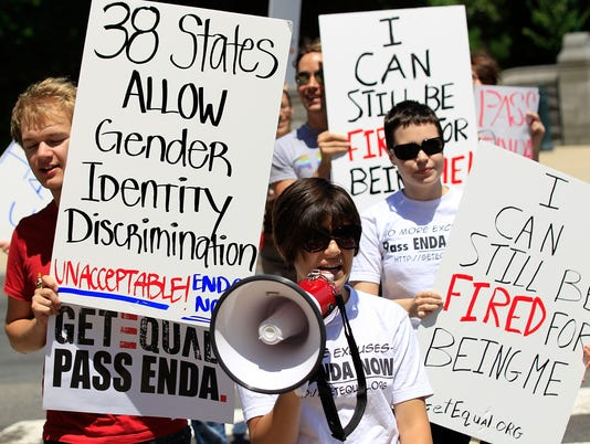 Gay Activists Hold Capitol Hill Picket On Non-Discrimination Legislation