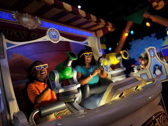 Toy Story Midway Mania | It's a ride! It's a 3D video game! OK, it's largely a 3D video game, but the neophyte-friendly controls (aim and pull the knob) make it fun for all. Visit early because it's a FastPass-free attraction.