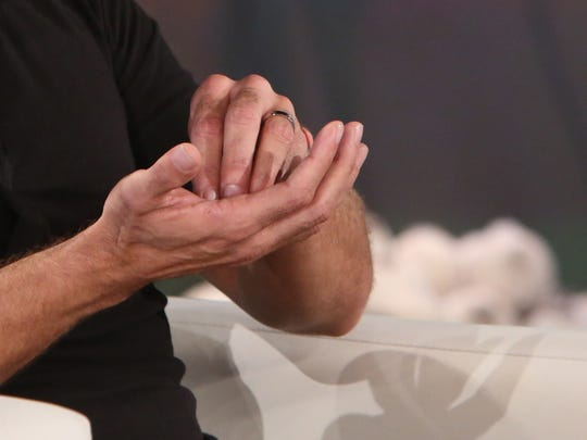 Martin wore his engagement ring on 'Ellen.'