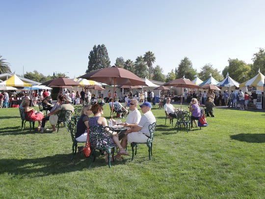 Guests enjoy the 4th annual Conejo Food and Wine Fest in 2014