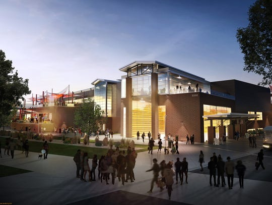 An artist's rendering shows what the Budweiser Events