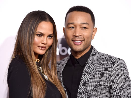 Chrissy and John Legend arrived at the American Music