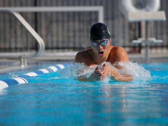 Jason Lu reached the CIF-SS Division 2 finals in two events in his last two seasons at Newbury Park High.