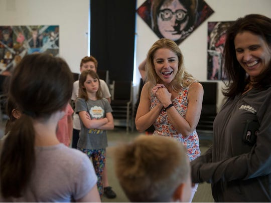 "Broadway star Kerry Butler, currently starring in ""Mean"