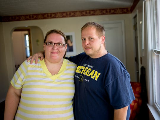 Kristen and Joseph Murphy pictured Wednesday, November 4, 2015 at their home in Port Huron Township. The couple is waiting on a final OK to become foster parents.