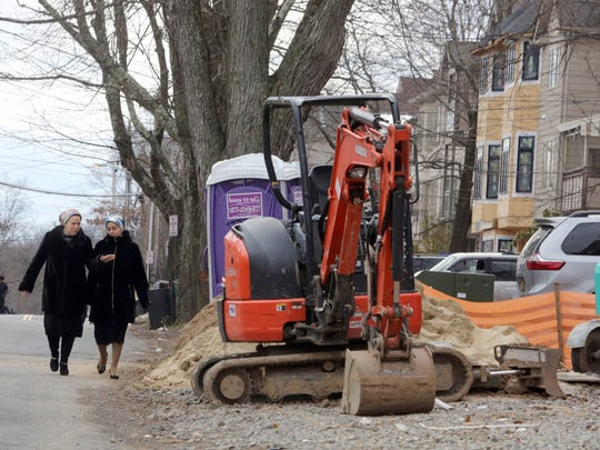 A Decatur Avenue construction site in Monsey, where