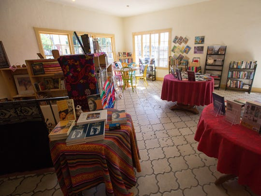 Denise Chavez, author and owner of Casa Camino Real Bookstore, opened a pop-up book and art sale in what was Patina Home.