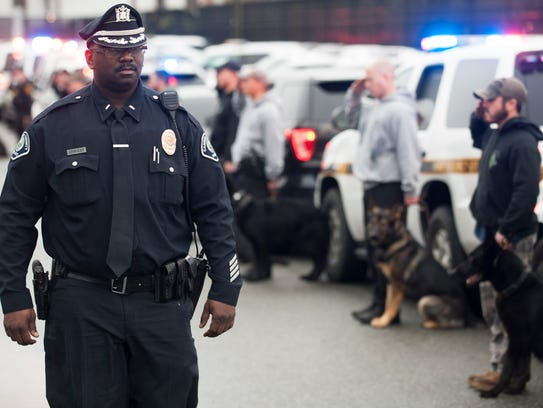 Camden County Police Lt. Zsakhiem James, whose longtime