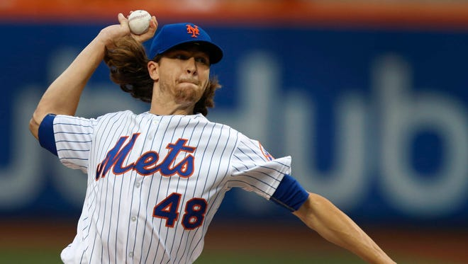 Jacob deGrom (8-3) got the win as the Mets topped the Philadelphia Phillies on Friday, June 30, 2017. He went seven innings, allowing only three hits and the one run while striking out 12 at Citi Field.