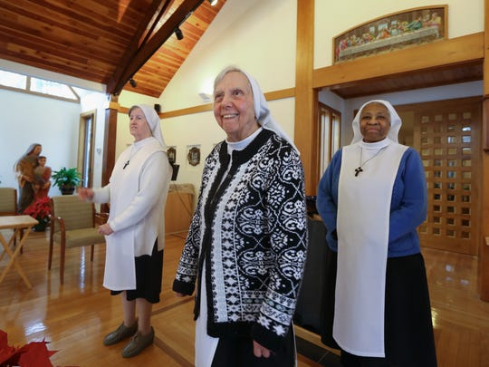 From left, Sisters Mary Francis, Mary Aimee and  Mary