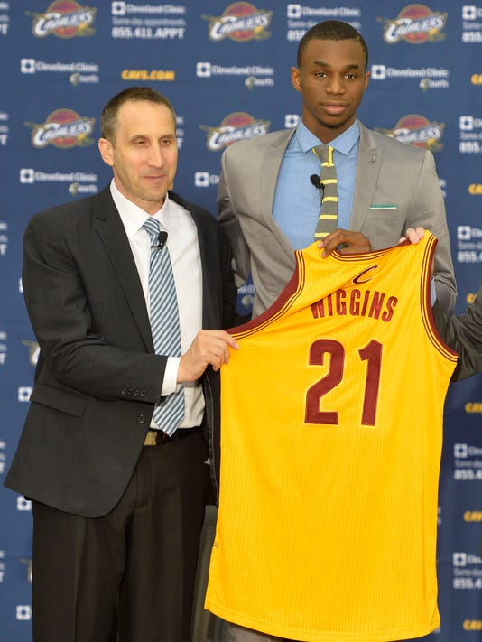 Cavaliers sign Andrew Wiggins, can't trade him for month