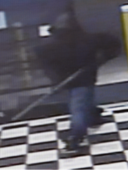 More footage of the suspect in a Saturday armed robbery