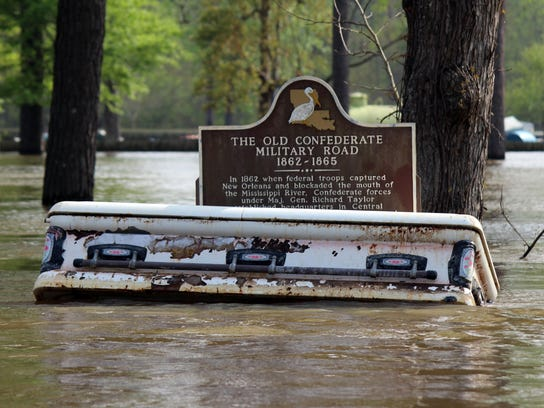 Louisiana Flooding Caskets