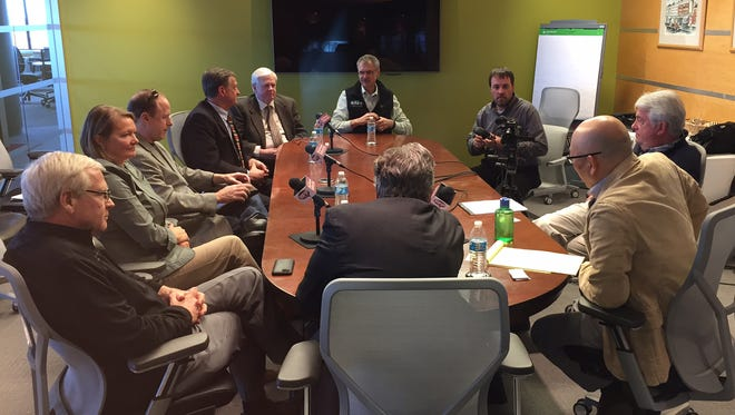Burlington Free Press Editorial Board meets with Vermont business leaders Wednesday.