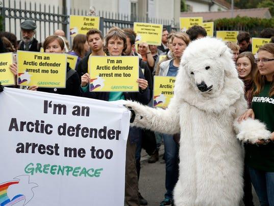 Greenpeace sign