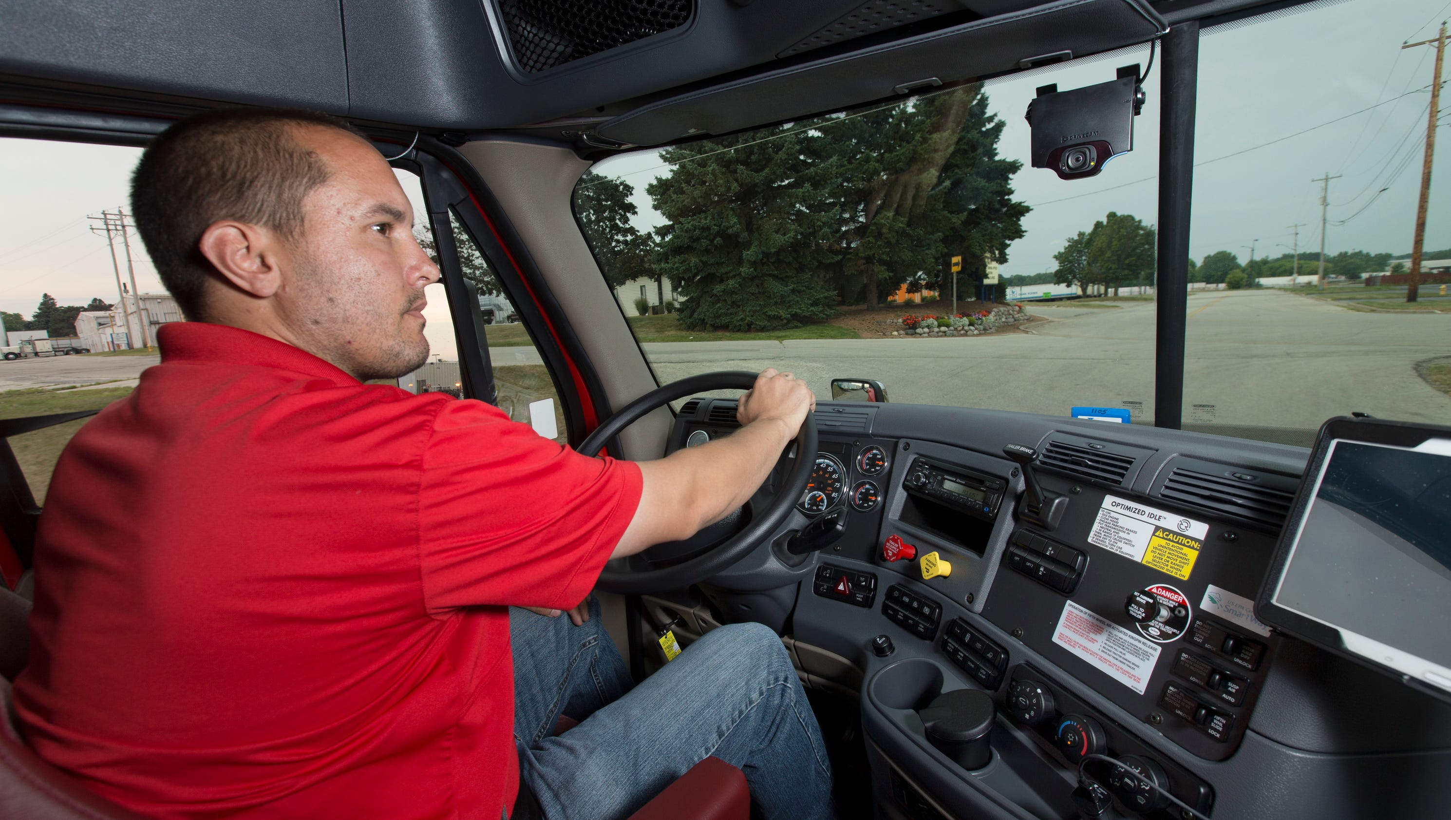 truck cameras watch road  drivers too