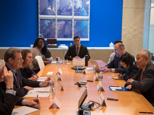 Current USA TODAY's Editorial Board meeting with China's