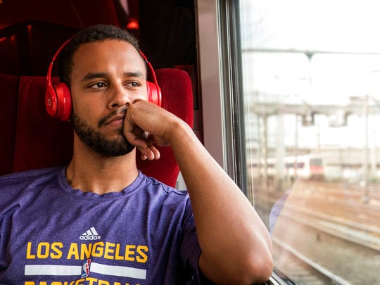 "Anthony Sadler in a scene from ""The 15:17"" To Paris."" The movie opens Feb. 9 at Regal West Manchester Stadium 13, Frank Theatres Queensgate Stadium 13 and R/C Hanover Movies."