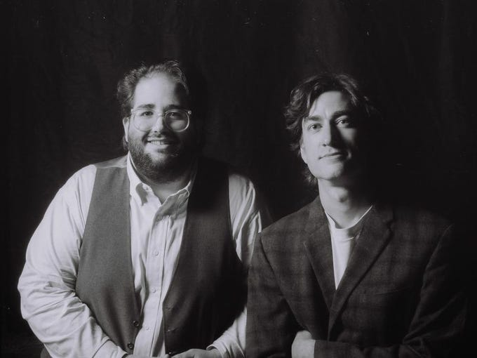 In 1992, Jim Reilley and Reese Campbell pose after
