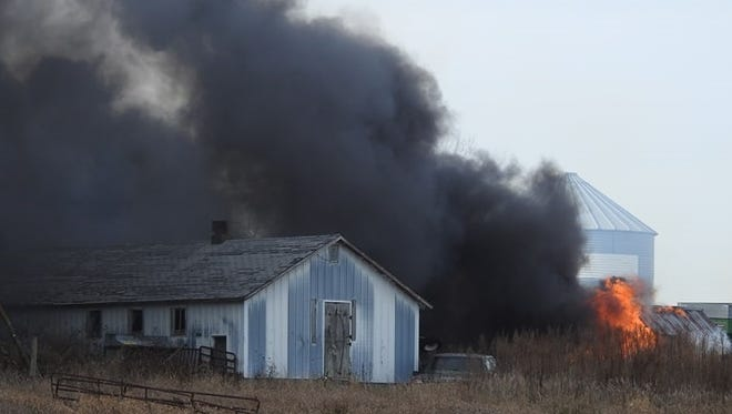 Grinnell firefighters were called to Morrison Repair at 255 420th Ave., in rural Grinnell at 12:54 p.m., Tuesday, Nov. 28, for a report of a tire fire.