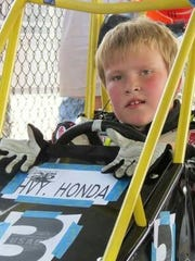 Ben Burchard started racing in 2011. He is shown here in his early days with the sport.
