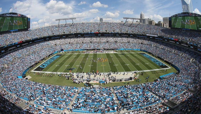 A view of Bank of America Stadium in Charlotte, North Carolina.