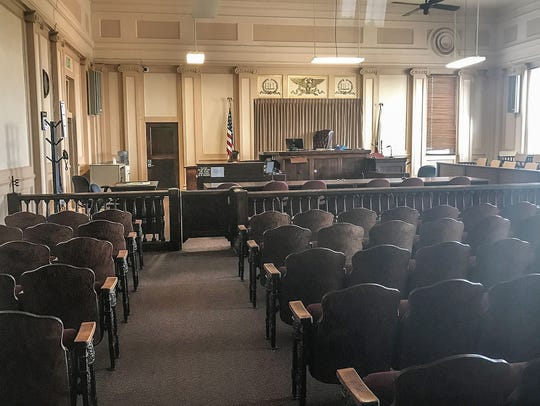The courtroom of Judge L. Brooks Anderholt at Imperial