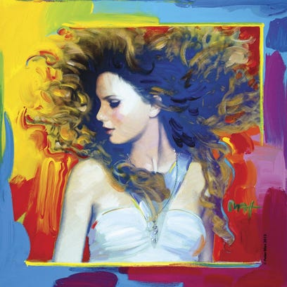 TaylorSwiftFearless - Copyright CPeter Max