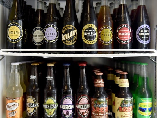 The new Brick Street Pops at the corner of Leake and Monroe streets in Clinton has a large selection of soft drinks, including a large selection of root beer.