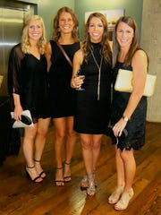The ladies in black at the Gooden-Calligas wedding reception: Emily Hightower, Kendall Lillich, Jodi Hermes, Katie Comeaux.