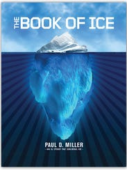 """The cover of Paul D. Miller's book, """"The Book of Ice."""""""