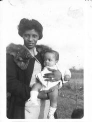 Kit White as an infant with her mother.