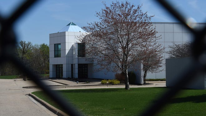Entrance to Paisley Park, in Chanhassen, Minn.