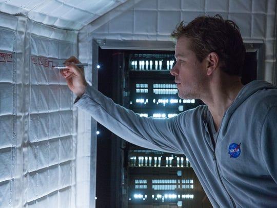 """Matt Damon appears in a scene from """"The Martian."""""""