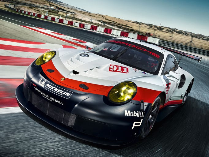 Porsche showed off its new race car, the Porsche 911